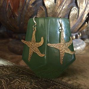 Jewelry - Golden Starfish Earrings